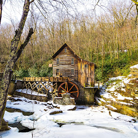 Old Mountain Gristmill by Norma Brandsberg - Buildings & Architecture Public & Historical