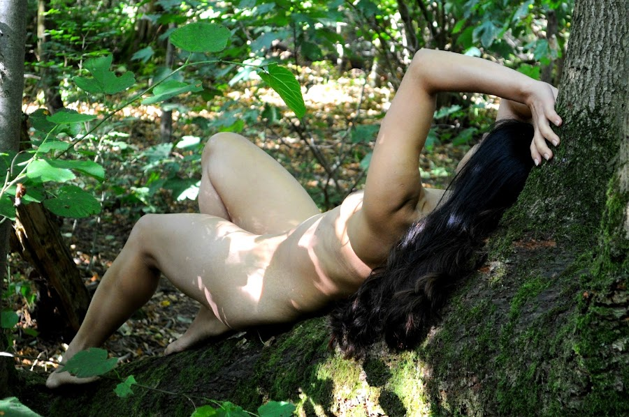 View Unviewed by DJ Cockburn - Nudes & Boudoir Artistic Nude ( forest, south asian, woman, art nude, woodland, natural light, tree, branch, outdoor, supine, dark hair, full length, brunette, anonymous, model, wood, anonymised, indian, lying )