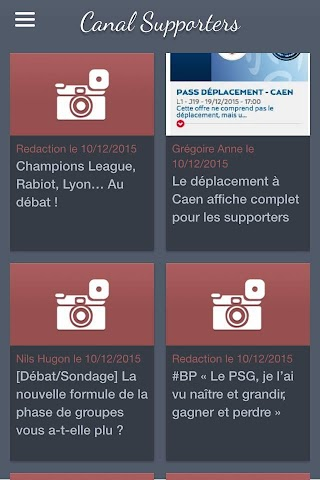 android Canal Supporters Officiel Screenshot 1