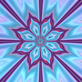 Star by Cassy 67 - Illustration Abstract & Patterns ( pastel, kaleidoscope, purple, blue, stars, digital art, pink, flowers, fractal, digital, fractals, floral, flower )