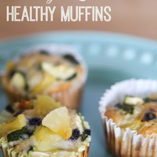 Blueberry Zucchini Healthy Breakfast Muffins