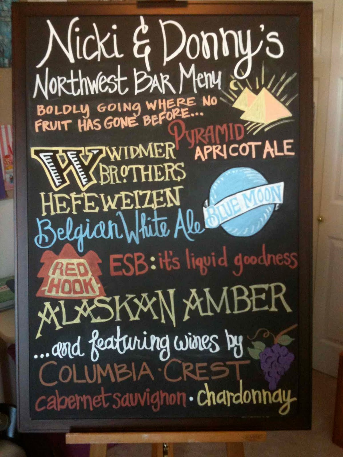 welcome chalkboard wedding