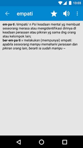 Kamus Bahasa Indonesia screenshot 2