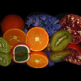 fruits,candys with flower by LADOCKi Elvira - Food & Drink Fruits & Vegetables