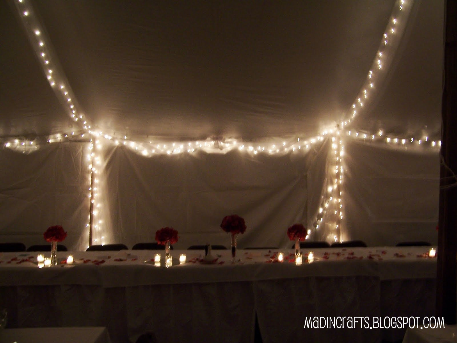 christmas lights wedding