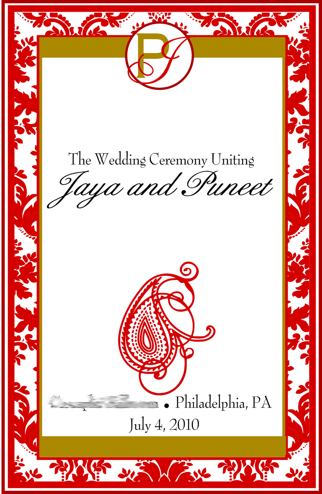 christmas wedding programs