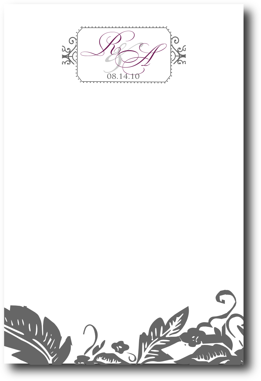 blank wedding menus designs