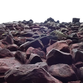 by Alan Reardon - Abstract Fine Art ( menstrie, castle, stones, rocks, wall, shapes )