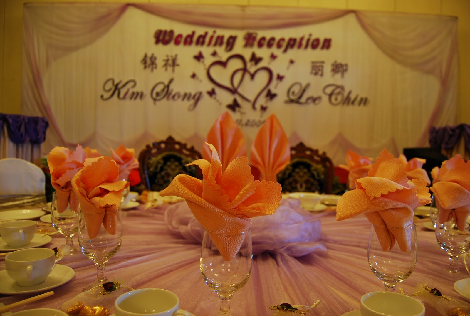 Wedding backdrop for Kim siong