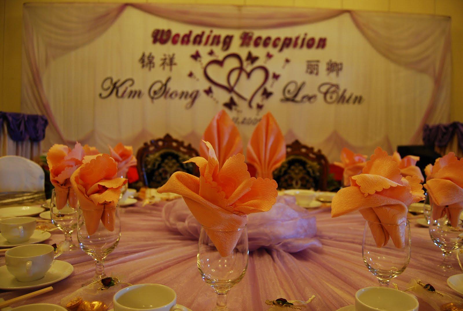 Wedding backdrop for Kim siong