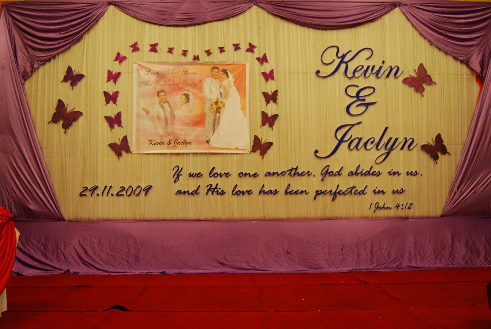 Wedding backdrop for Kevin