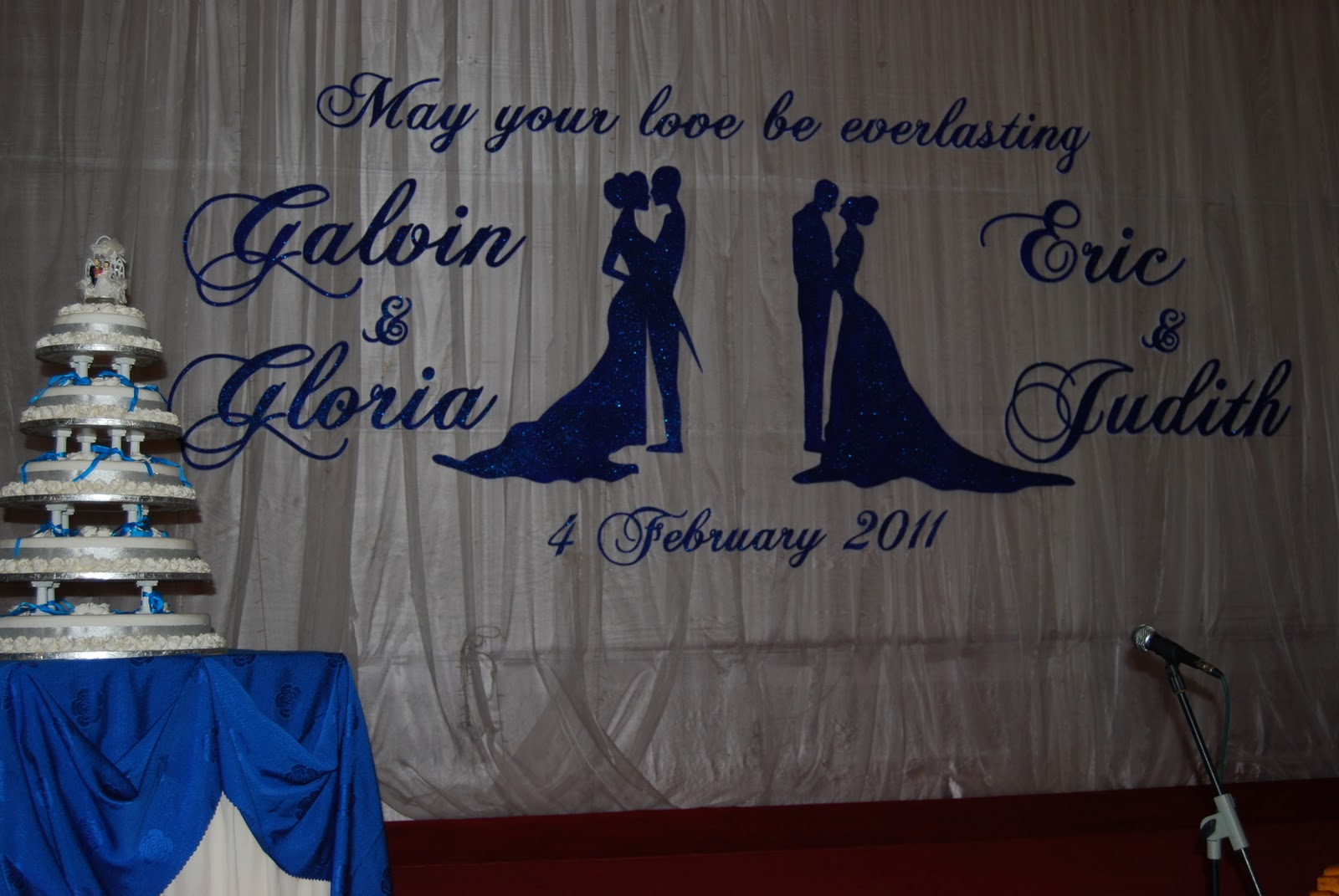 Wedding backdrop for Galvin