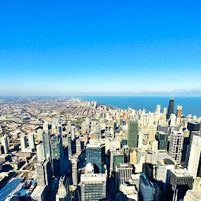 Windy City by Koenraad De Roo - City,  Street & Park  Skylines ( windy city, skyline, tourism, view, chicago, panorama, destination )