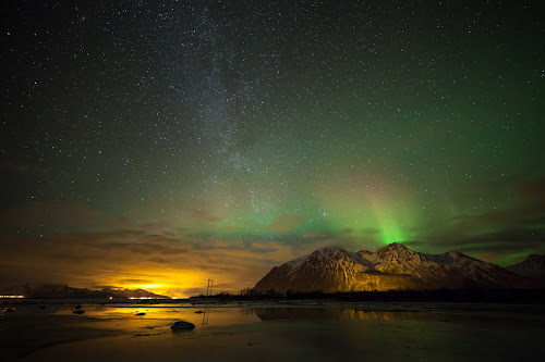 Aurora, ice and the milkyway by Benny Høynes - Landscapes Starscapes ( canon, milkyway, nature, høynes, ice, mk2, aurora, boreoalis, benny, 5d )