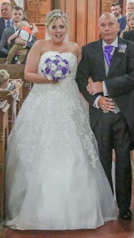 Terri wearing wedding dress 'D1422-C'.