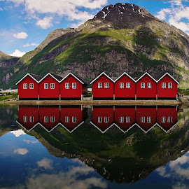 Sunndal by Jan Helge - Landscapes Mountains & Hills ( hills, reflection, mountains, sunndal, norway )