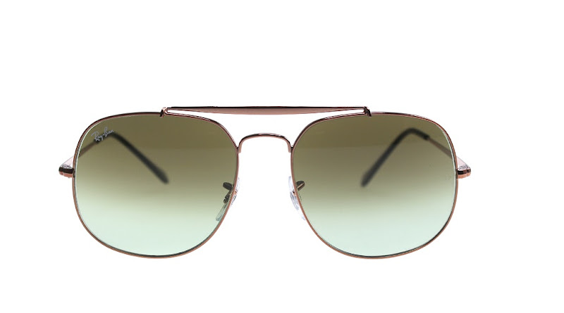 Ray Ban General RB3561 copper brown and green