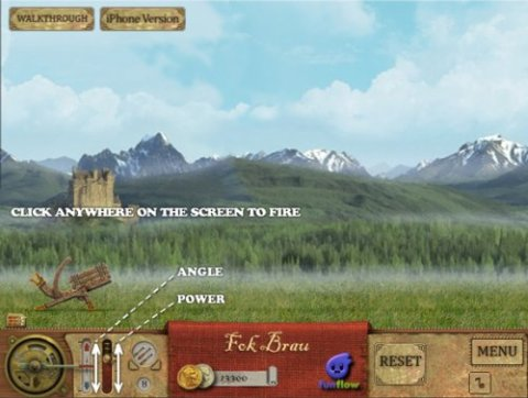 Da Vinci Cannon - Flash based game similar to Angry Birds