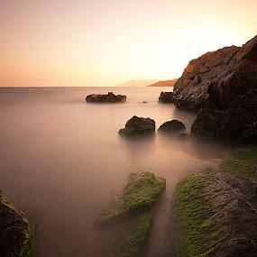 sunset (le) by Ömür Kahveci - Landscapes Waterscapes ( sunset, seascape, longexposure )