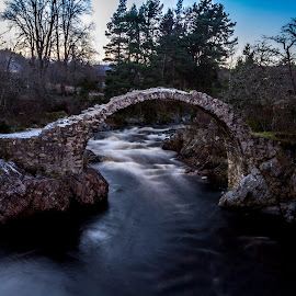 Soldiers Leap by Paul Masterton - Buildings & Architecture Bridges & Suspended Structures ( scotland, stone, stone bridge, bridges, carrbridge, river )