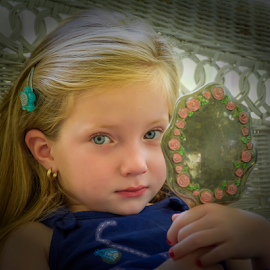 Blue-eyed beauty by Joe Saladino - Babies & Children Child Portraits ( girl, family, portrait, eyes, child )