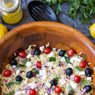 Simple Greek Orzo & Quinoa Salad with Lemon Vinaigrette