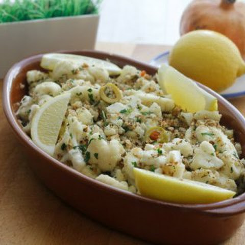 Cauliflower with Olives and Bread Crumbs