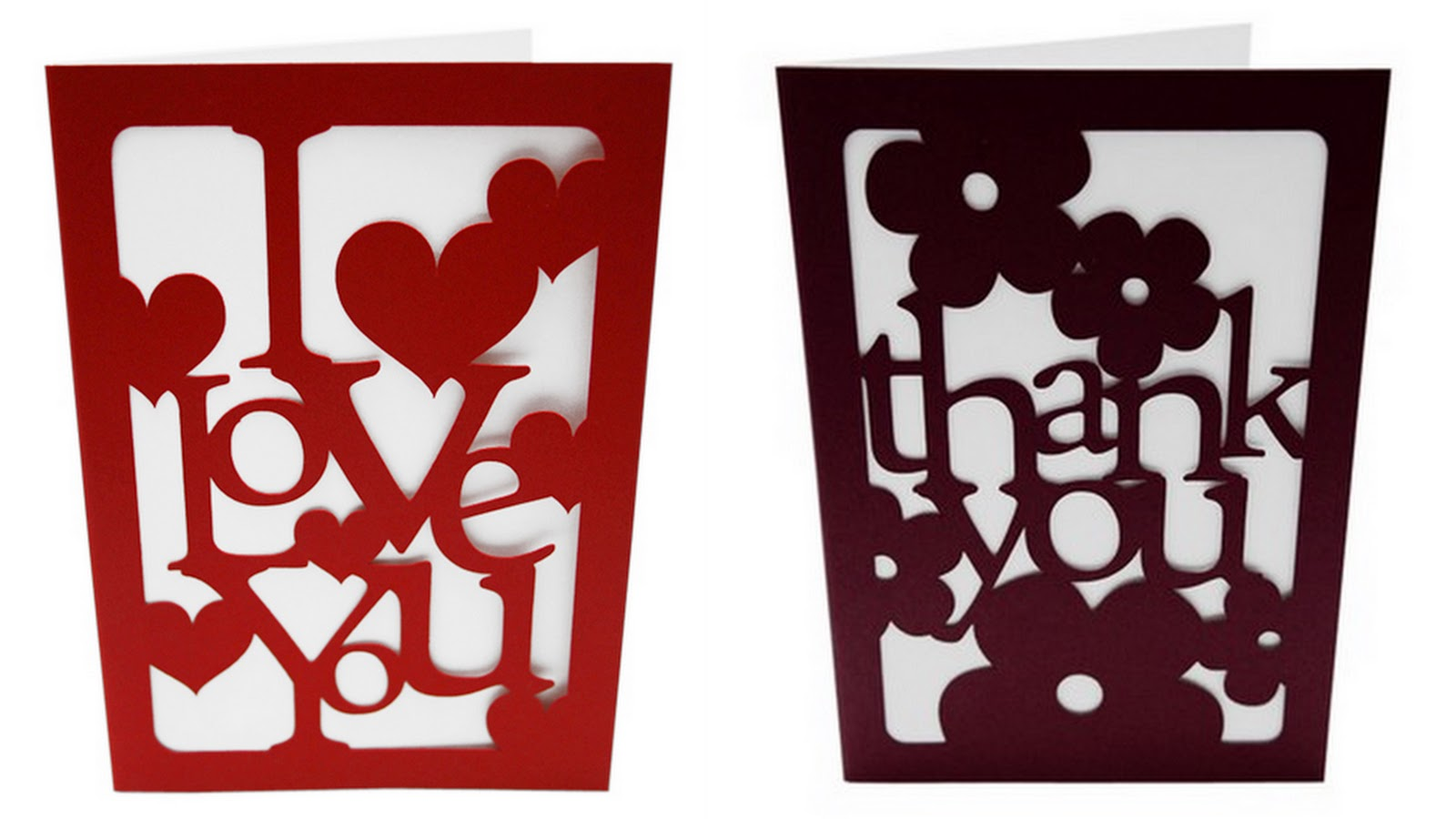 Great laser cut cards from