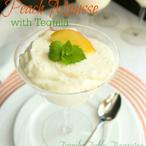 Peach Mousse {with Tequila}