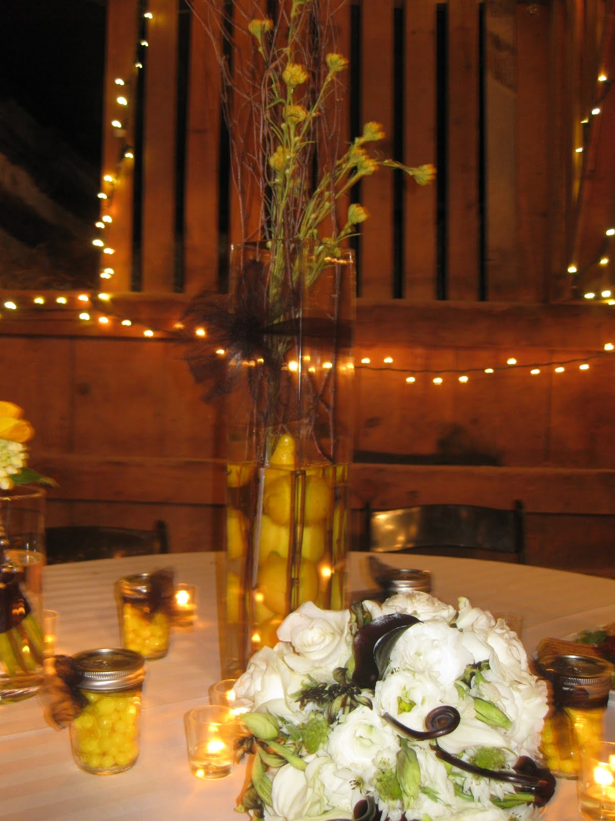 Homemade Wedding Centerpieces!