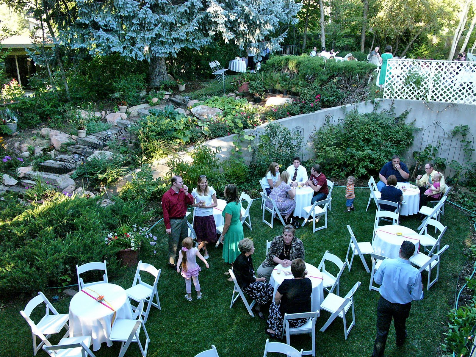 MOM DOES A BACKYARD WEDDING