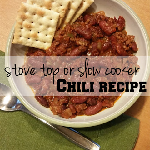 Stove Top Or Slow Cooker Chili