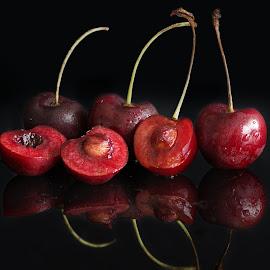 Cherries by Sam Song - Food & Drink Fruits & Vegetables