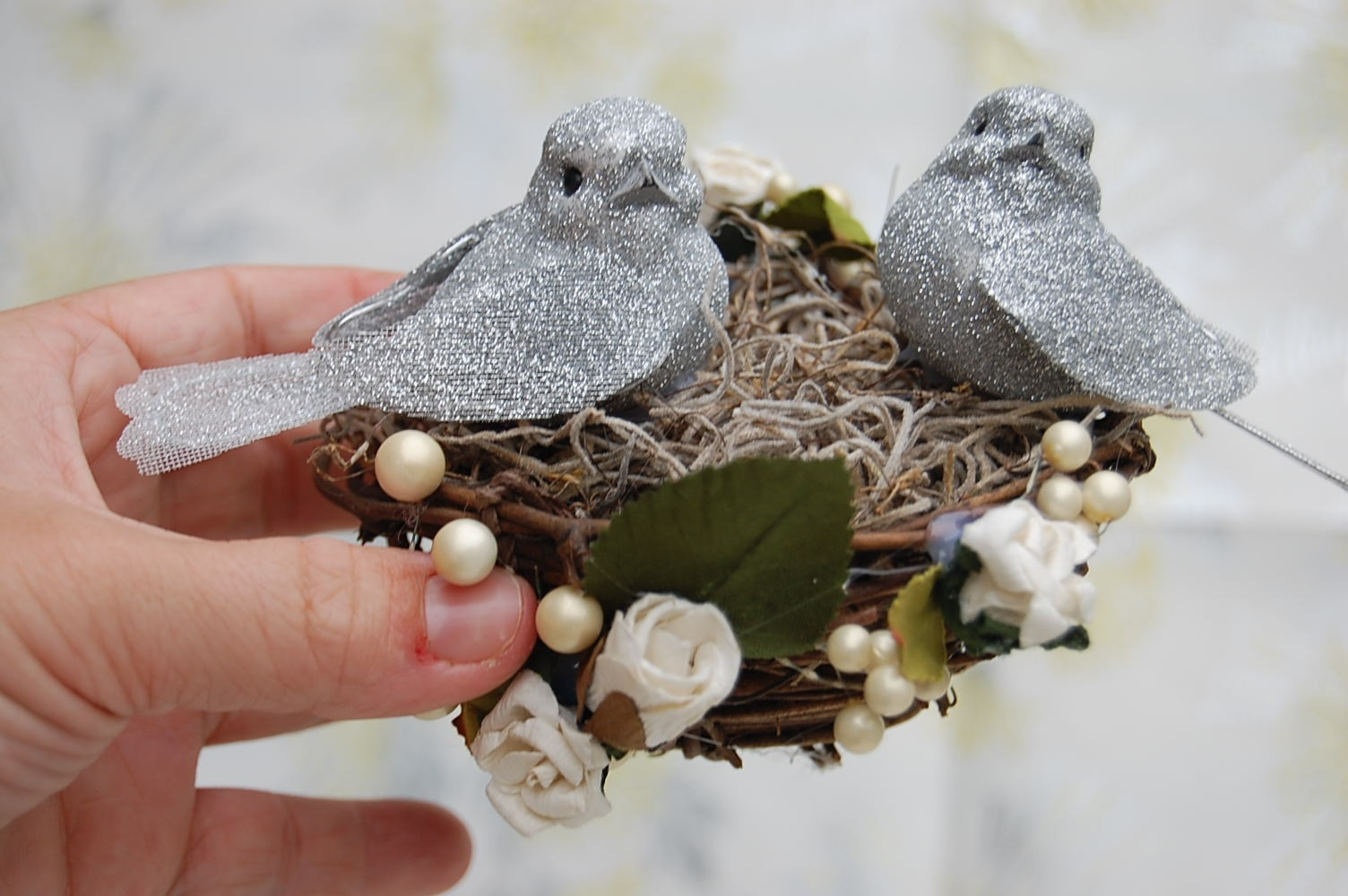 Glittery Love Birds Wedding