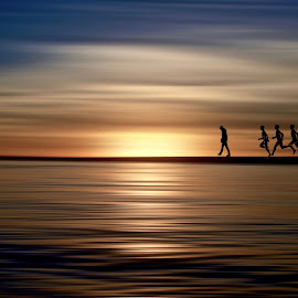 passable horizon , last by Georgios Kalogeropoulos - Digital Art Abstract ( background, digital art, digital photography, people, digital )
