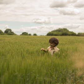 Child in corn by Bearded Egg - Babies & Children Children Candids ( portrait, boy, male, photography, child )