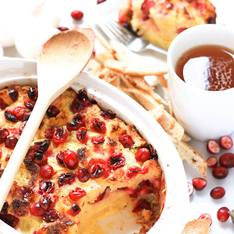 Gluten-free Cranberry Bread Pudding