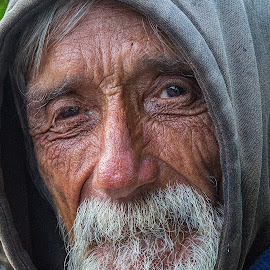 Homeless Man in Sausalito  by Lee Molof - People Street & Candids