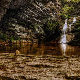 Upper Cascade by Jeremy Yoho - Landscapes Waterscapes ( water, nature, pool, waterfall, rock formation )