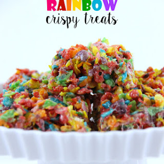 The Best Rainbow Crispy Treats