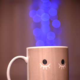 Want some Blue Coffee? by Jesus Heras - Artistic Objects Cups, Plates & Utensils ( lights, effect, blue, coffee, bokeh,  )