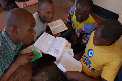 Koti men in Bible study