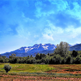 High Valley Farm land by Bruce Newman - Landscapes Prairies, Meadows & Fields ( rocky mountains, farmland, landscape photography, dramatic sky,  )