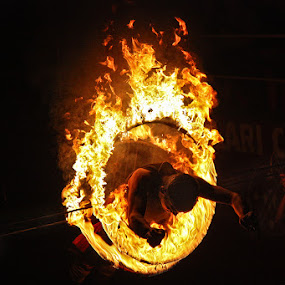The Ring of Fire by Arnab Sarkar - Sports & Fitness Other Sports ( ring, performer. india, sport, marshal art, kerala, kalari, travel, fire, jump )