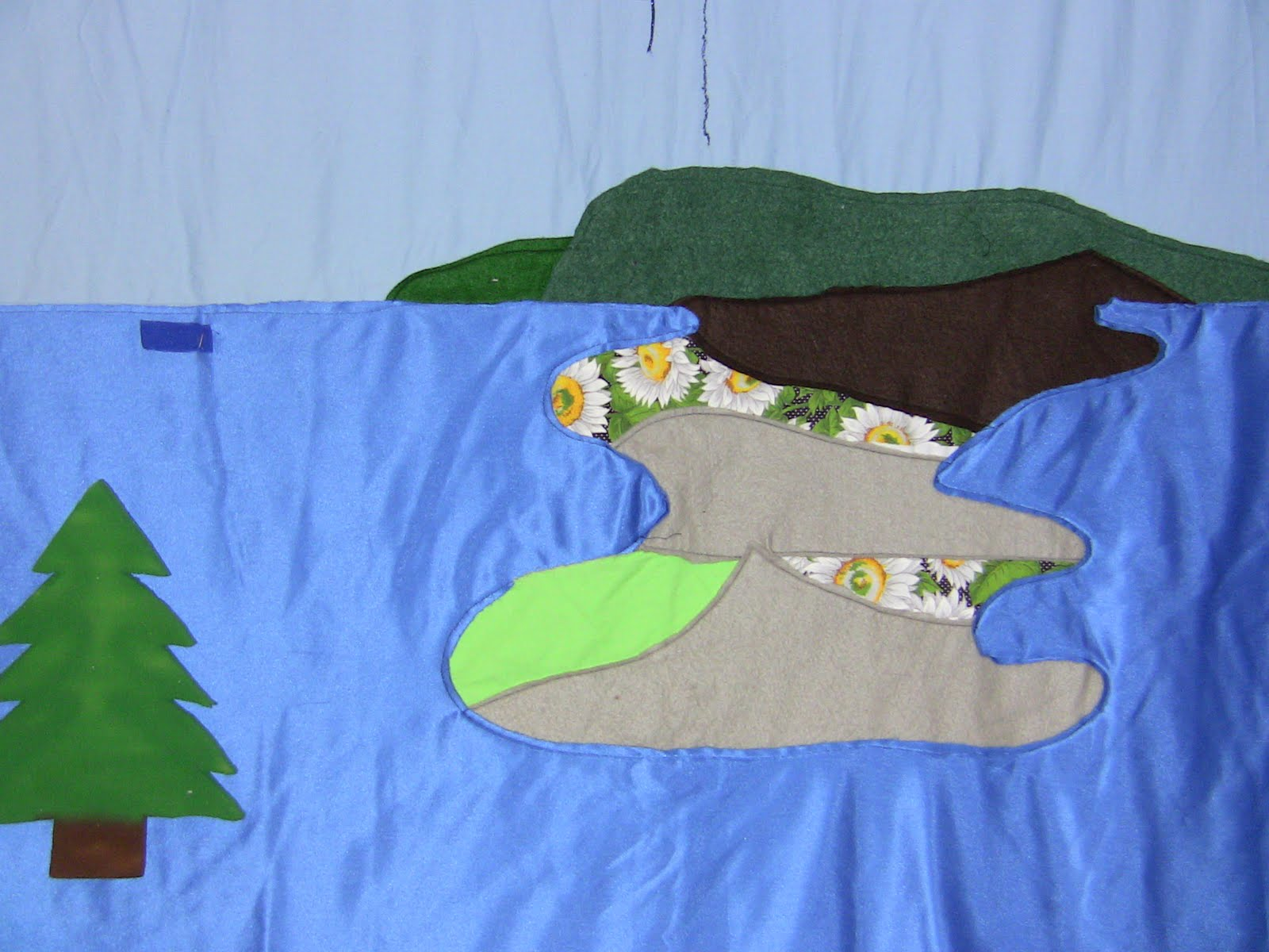 Lake Scene Fabric Backdrop