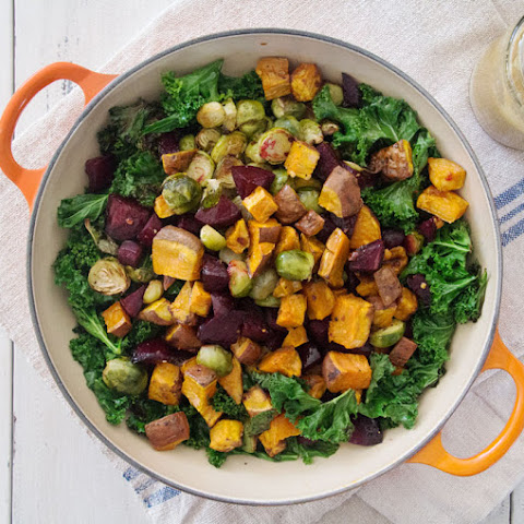 Sweet Potato, Sprout & Beet Salad