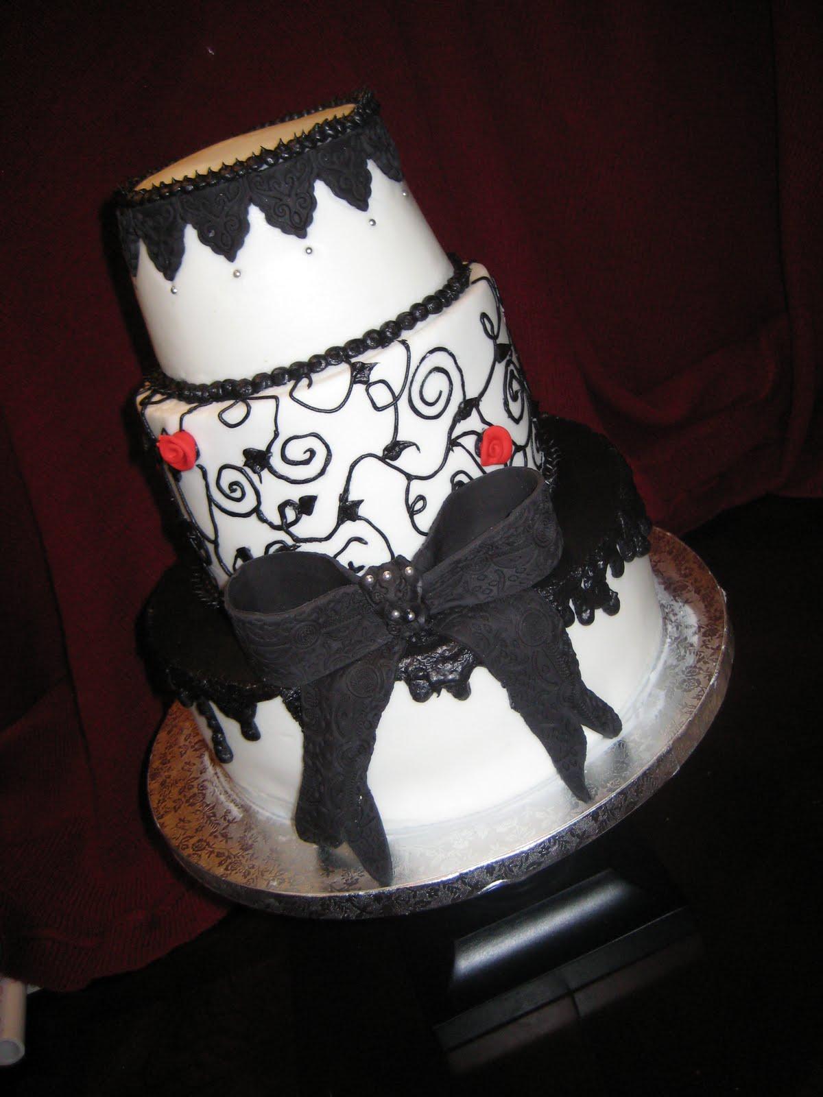 Gothic Wedding Cake.