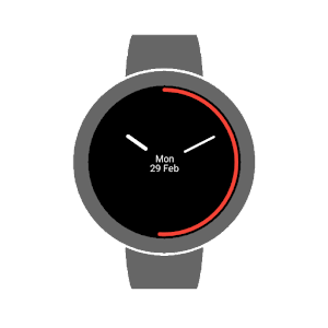 Flat times watch face