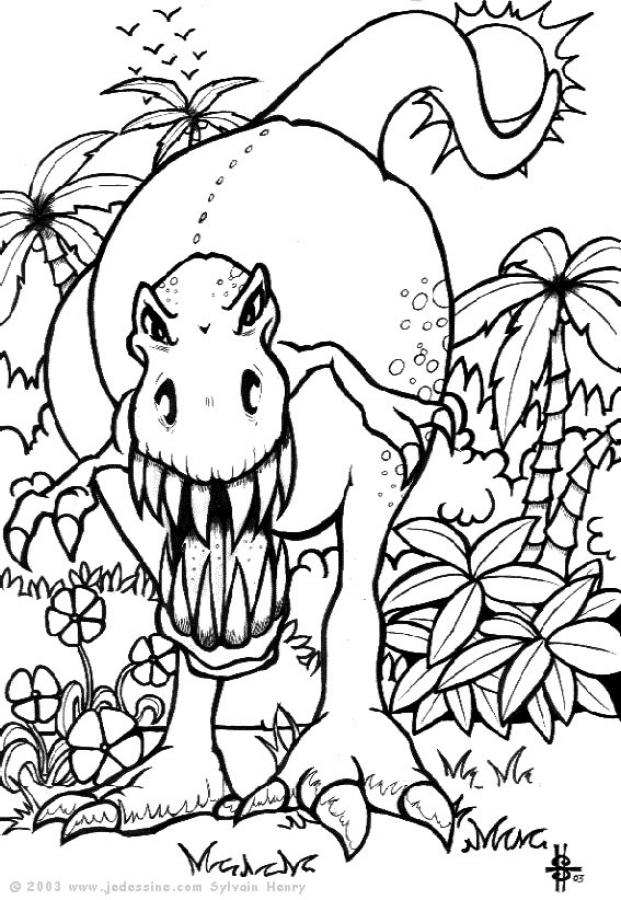 Dessin dinosaure colorier - Dessin geometrique a colorier ...