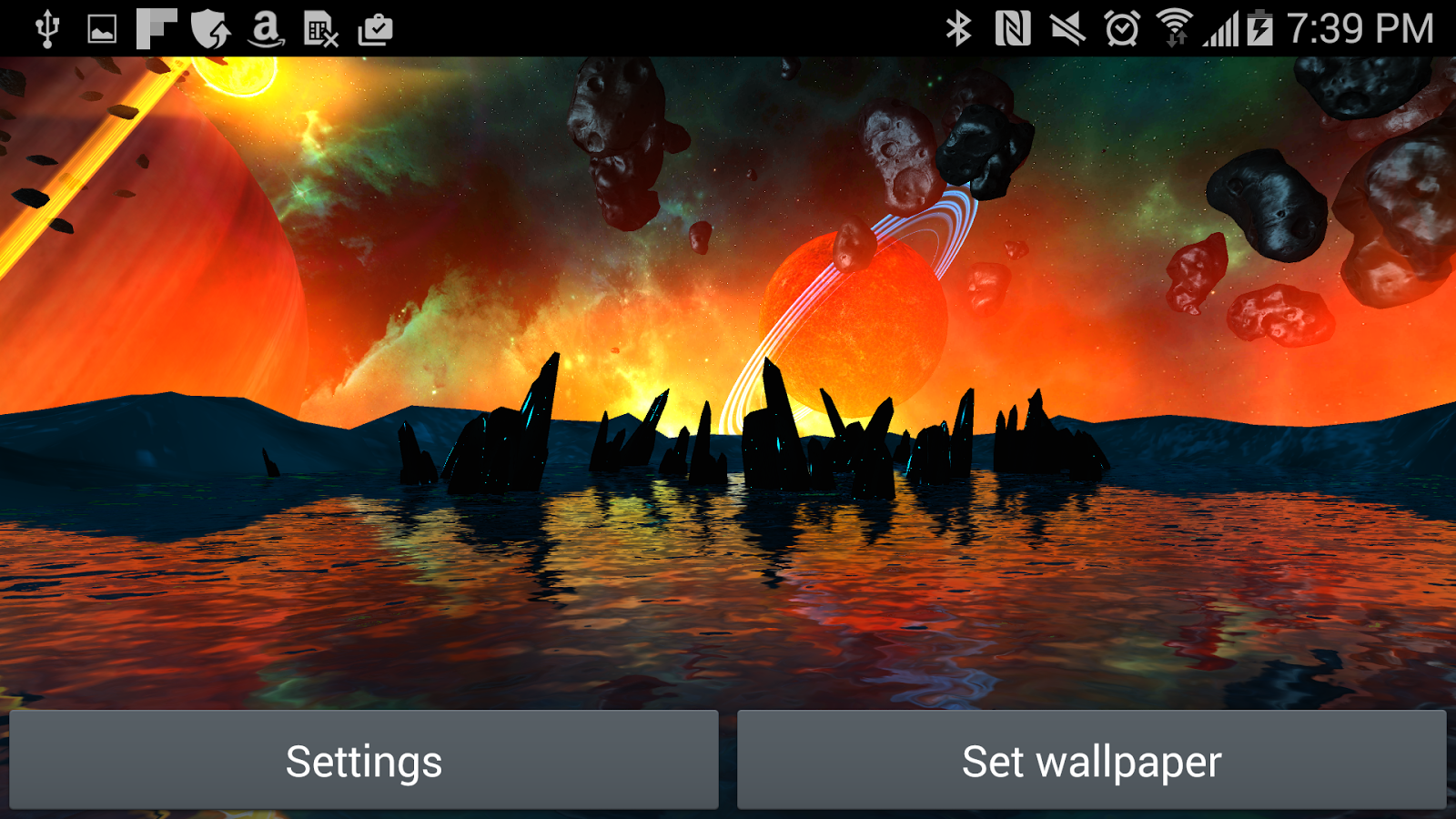 Far Galaxy 3D Live Wallpaper Screenshot 9